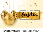 happy easter lettering... | Shutterstock .eps vector #1032816964