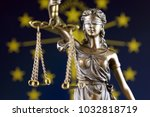 symbol of law and justice with... | Shutterstock . vector #1032818719