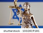 symbol of law and justice with... | Shutterstock . vector #1032819181