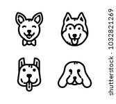 dogs icon set | Shutterstock .eps vector #1032821269