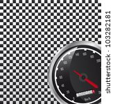 car speedometer with space for... | Shutterstock .eps vector #103282181