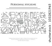 personal hygiene banner with... | Shutterstock .eps vector #1032821965