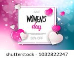 happy woman day sale holiday... | Shutterstock .eps vector #1032822247