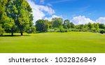 summer park with deciduous... | Shutterstock . vector #1032826849
