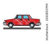 sedan vehicle cartoon | Shutterstock .eps vector #1032831994