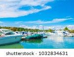 halkidiki  greece   22 june... | Shutterstock . vector #1032834631