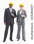 two businesspeople are wearing... | Shutterstock . vector #103283657