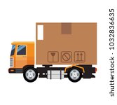 cargo truck vehicle | Shutterstock .eps vector #1032836635