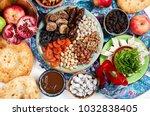 traditional azerbaijan sweet... | Shutterstock . vector #1032838405