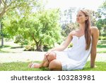young woman enjoying her time... | Shutterstock . vector #103283981