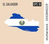 el salvador map border with... | Shutterstock .eps vector #1032840229