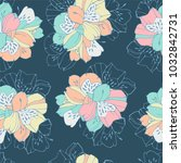 tropic seamless pattern with... | Shutterstock .eps vector #1032842731