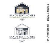 tiny living homes houses logo... | Shutterstock .eps vector #1032850081