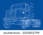 concept truck. vector rendering ... | Shutterstock .eps vector #1032852799