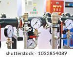 industrial equipment with pipes ... | Shutterstock . vector #1032854089