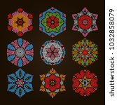 circular pattern set  9...   Shutterstock .eps vector #1032858079