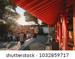 fushimi inari shrine  shrine ... | Shutterstock . vector #1032859717