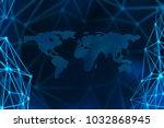 internet concept of global... | Shutterstock . vector #1032868945