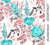 watercolor seamless pattern... | Shutterstock . vector #1032870637
