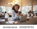young african college student... | Shutterstock . vector #1032878701