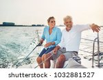 mature couple sitting together... | Shutterstock . vector #1032881527