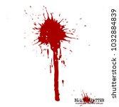 blood splatter elements on... | Shutterstock .eps vector #1032884839