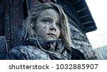 hungry homeless child.... | Shutterstock . vector #1032885907