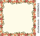 frame with vintage flowers | Shutterstock .eps vector #1032886561