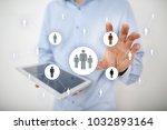 human resource management  hr ... | Shutterstock . vector #1032893164
