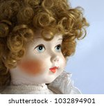 closeup face of vintage... | Shutterstock . vector #1032894901