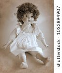 Vintage Porcelain Doll With...