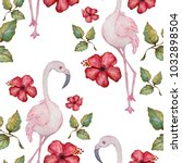 elegant seamless pattern with... | Shutterstock . vector #1032898504