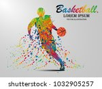 visual drawing basketball sport ... | Shutterstock .eps vector #1032905257