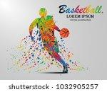 visual drawing basketball sport ... | Shutterstock .eps vector #1032905257