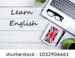 learn english concept. time to... | Shutterstock . vector #1032906661