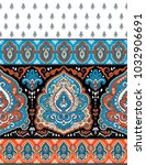 indian rug paisley ornament... | Shutterstock .eps vector #1032906691