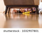 daughter and mother cleaning... | Shutterstock . vector #1032907801