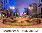 paulista avenue at twilight in...   Shutterstock . vector #1032908869