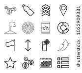 ui icons. set of 16 editable...