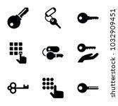 unlock icons. set of 9 editable ...   Shutterstock .eps vector #1032909451