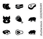 ham icons. set of 9 editable... | Shutterstock .eps vector #1032909499
