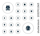 editable vector jacket icons ... | Shutterstock .eps vector #1032911365