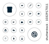 editable vector hot icons ... | Shutterstock .eps vector #1032917011