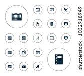 editable vector calendar icons  ... | Shutterstock .eps vector #1032918949