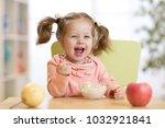 cheerful happy baby child... | Shutterstock . vector #1032921841