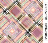 seamless pattern tartan design. ...   Shutterstock . vector #1032923275