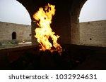 fire in the main sanctuary in... | Shutterstock . vector #1032924631