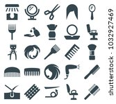 hair icons. set of 25 editable... | Shutterstock .eps vector #1032927469