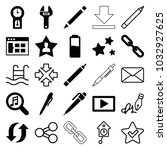 interface icons. set of 25... | Shutterstock .eps vector #1032927625