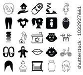 girl icons. set of 25 editable...   Shutterstock .eps vector #1032927661